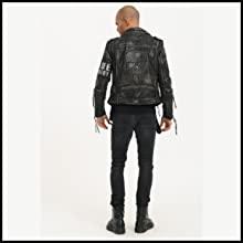 trueprodigy chaqueta de cureo piel oveja biker jacket moto motorista