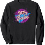 90's Babe Nineties Kid Born in 1990s Retro Vintage Vaporwave Sudadera