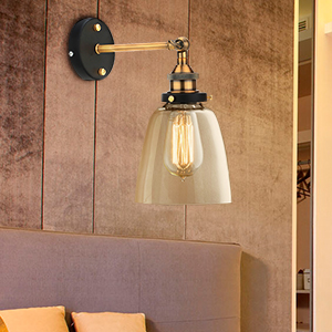 La lámpara de pared de vidrio vintage