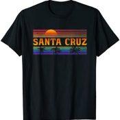 70er 80er en la ciudad de California Santa Cruz Camiseta