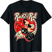 Camisetas Rockabilly Hombre Mujer Rock and Roll Retro Pinup Camiseta