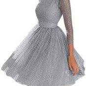 Fossen MuRope Vestidos Mujer Invierno Fiesta - Vestidos de Fiesta Mujer Cortos Elegantes para Boda Barato, Dress Falda Juveniles Invierno 2019 Corto Midi Tallas Grandes