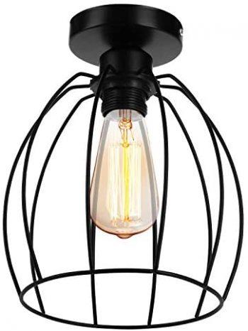 Lampara del Techo Vintage,Retro Colgante de Techo Industrial Luz, Techo Lámpara de Estilo,Iluminación Dormitorio Cocina Sala de estar Loft Comedor Baño Pasillo Porche(E27,no hay bombillas)