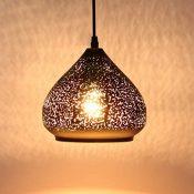 Louvra Lámpara Vintage de Techo Casquillo E27 Colgante Luz Industrial Lámpara Retro, Color Negro
