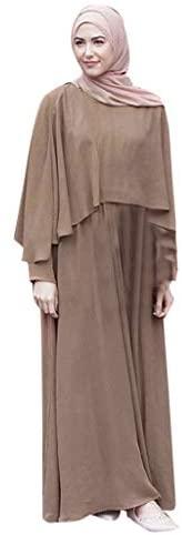 RISTHY Musulmana Batas Largos Musulmán Vestido Vintage Vestidos Elegantes Vestidos Color Sólido Abaya Dubai Turquia Islámica Árabe Kaftan Dubai para Ropa de Oración Islámica