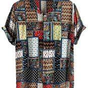 Sylar Camisas De Hombre Manga Corta Camisetas Hombre Originales con Estampado Vintage Camisa Hawaiana Hombre Verano Playa Funny Hawaii Shirt Camiseta Blusa Tops