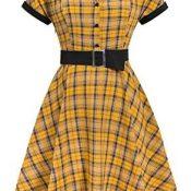 Vestido de Cóctel Fiesta Mujer Verano Años 50 Vintage Rockabilly Sin Mangas/Manga Corta Pin Up Elegante