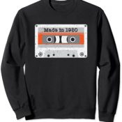 Vintage Made in the 80s Mix Tape Music Cassette Funny DJ Sudadera