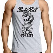 lepni.me Camisetas de Tirantes para Hombre Rock and Roll For Life - 1960s, 1970s, 1980s - Banda de Rock Vintage - Musicalmente - Vestimenta de Concierto