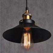 Vintage Retro Edison Loft–Lámpara de techo, Retro industriales plafón barniz iertem País De Hierro Lámpara paraguas de tipo de lámpara