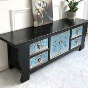 Mueble de TV vintage de madera para salón, pasillo, dormitorio