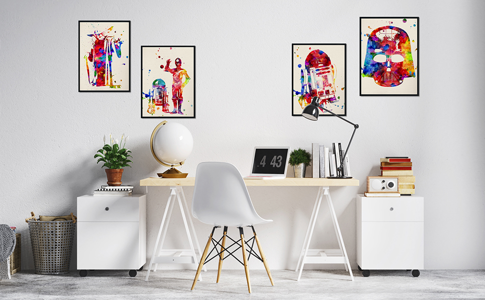 nacnic poster cuadro decoracion hogar salon pared habitacion star wars guerra de las galaxias poster