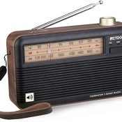 Retekess TR614 Radio de Onda Corta, Radio Portátil, FM Am SW Radio Retro, Gran Sonido, Excelente Recepción, con Conector para Auriculares, Radio Analógica para Personas Mayores