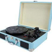 214 Tocadiscos de Vinilo, Tocadiscos Vintage portátil, Tocadiscos, Tocadiscos Retro Bluetooth, fonógrafo con Altavoces estéreo(yo)