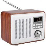ANGGREK Vintage Radio Retro Bluetooth Speaker, Retro Caja de Madera Radio Bluetooth Speaker U Disk MP3 Altavoz Bluetooth con Estilo clásico Antiguo