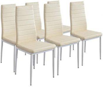 Albatros 2707 MILANO Set de 6 sillas de comedor, beige