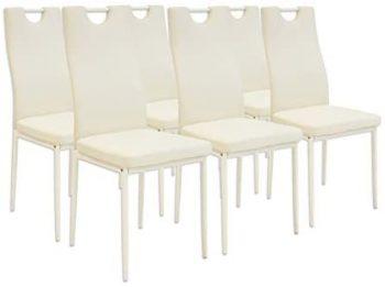 Albatros 2919 Salerno Set de 6 sillas de Comedor, Beige