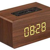 Altavoz Bluetooth Retro,Radio Vintage para Interiores hogar,Estilo Vintage Madera,Altavoz portátil Recargable,función Radio,Pantalla de Reloj,Reloj Despertador,para Todos los Dispositivos Bluetooth-1
