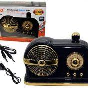 Altavoz Radio PORTÁTIL Vintage Altavoces Bluetooth Retro Radio FM DE Estilo CLÁSICO, Bluetooth 4.2, Tarjeta AUX TF Reproductor DE MP3 (Negro)