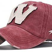 Bonfor Gorras de Hombre Baratas Verano Transpirable 'W' Bordado, Gorras de Hombre Beisbol Vintage, Sombrero Mujer Verano Unisex Adulto