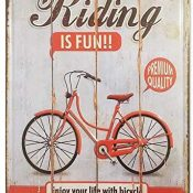 Chapa Vintage [ Bicicleta ] | Placa Decorativa Retro para pared de Salón, Bar, Taller, Tienda | Metal de alta densidad y Relieve | Tamaño 20x30.