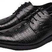 Derbys para Hombre Zapatos de Cuero con Cordones de Corte bajo con Punta Puntiaguda Vintage Zapatos Formales de Oficina de Estilo Simple Antideslizantes Ligeros