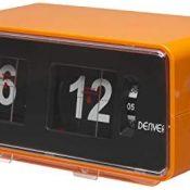 Despertador DENVER CR-425 - Radio FM - Alarma AL Timbre O Radio - Flip Retro DE DÍGITOS - BATERÍA