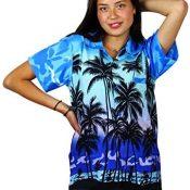 Funky Blusa Camisa Hawaiana Señora | XS -6XL | Manga Corta | Bolsillo Delantero | impresión De Hawaii| Diseños de Botella de Cerveza únicos