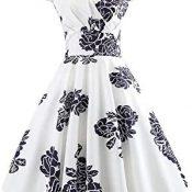 GIO282 Vintage años 60 Fiesta Verano/Primavera Elegante Vestido para Mujeres Casual Cóctel Fiesta Corto a Rodilla Boda Cumpleaños Moderno