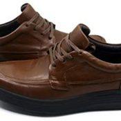 Harssidanzar Zapatos de Cuero con Cordones para Hombre JWM002