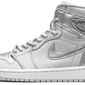Jordan Air 1 Retro High Co.Jp Metálico Plata Hombres Dc1788 029 - Talla
