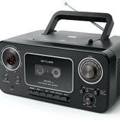 Muse M-182 RDC RADIOCD M182RDC CD Radio Cassette, Stereo, Negro