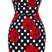 Vestido Sin Mangas con Bordado de Flores Cuello en U Vintage 4XL