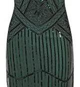 Vestido de Noche de Borla Vintage para Mujer sin Mangas con Flecos de Lentejuelas Vestido de Fiesta de Moda borlas
