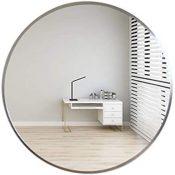 XWW Espejo De Pared De Aleación De Aluminio | Espejo De Baño Redondo | para Estudio, Recibidor, Chimenea, Dormitorio | Dorado, Plateado