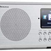 """auna Silver Star Mini - Radio con Internet, Bluetooth, Sintonizador Dab+/FM, Wi-fi, USB, Entrada AUX, Potencia de 8 W, Pantalla HCC 2,8"""" (7 cm), Despertador, Control por App, Mando a distancia, Blanco"""
