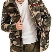 trueprodigy Casual Hombre Marca Chaqueta Militar Ropa Retro Vintage Rock Vestir Moda Camuflaje Deportivo Slim fit Designer Fashion Aviador Jacket Parka