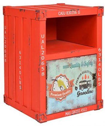 ts-ideen Cómoda Estilo Container ;Maritímo Rojo Contenedor Shabby Vintage